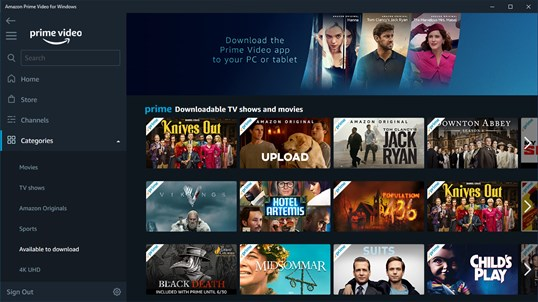 Amazon Prime Video for Windows screenshot 6