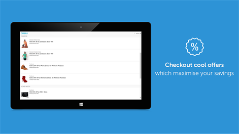 Screenshot: checkout cool offers,which maximize your saving