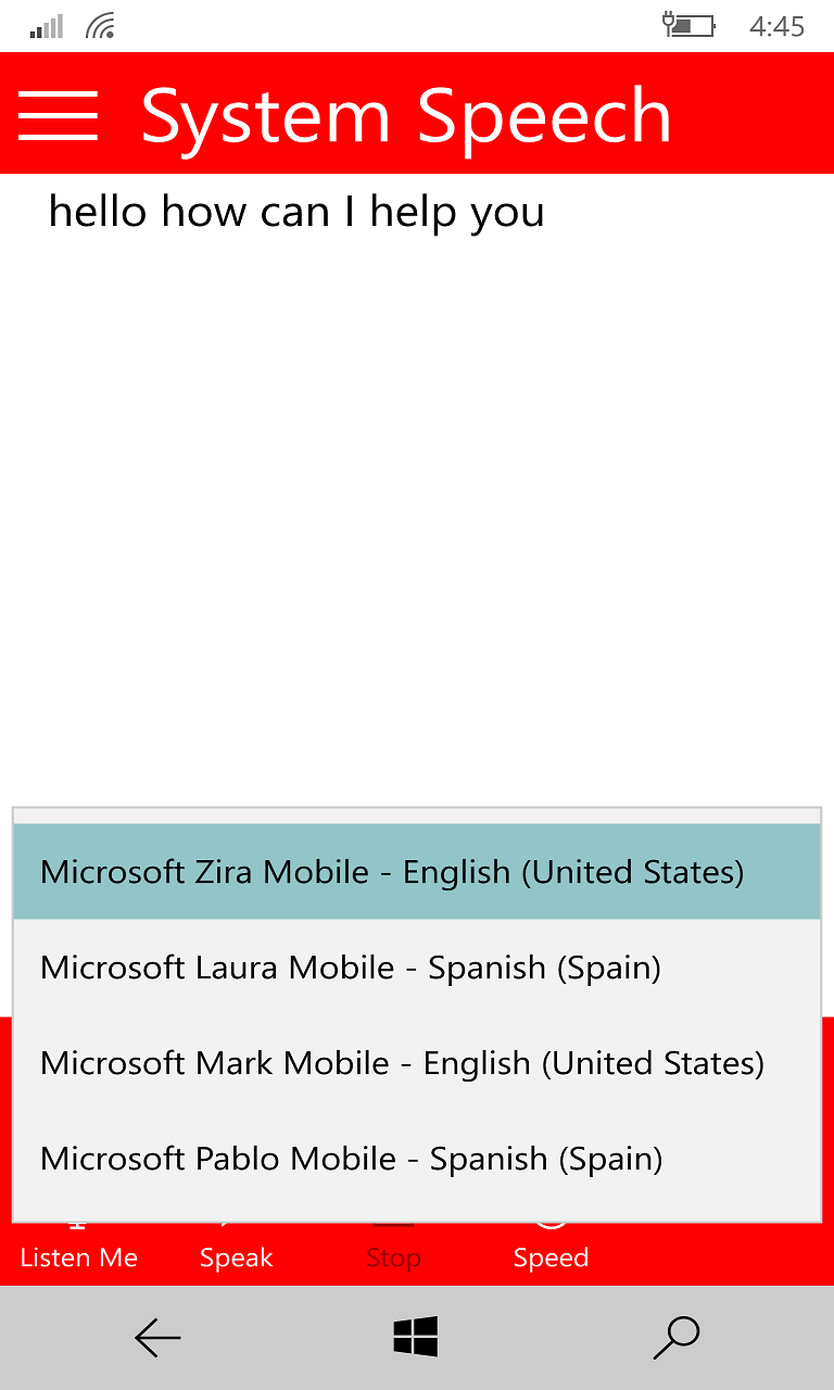 how to change microsoft speech recognition language windows 10