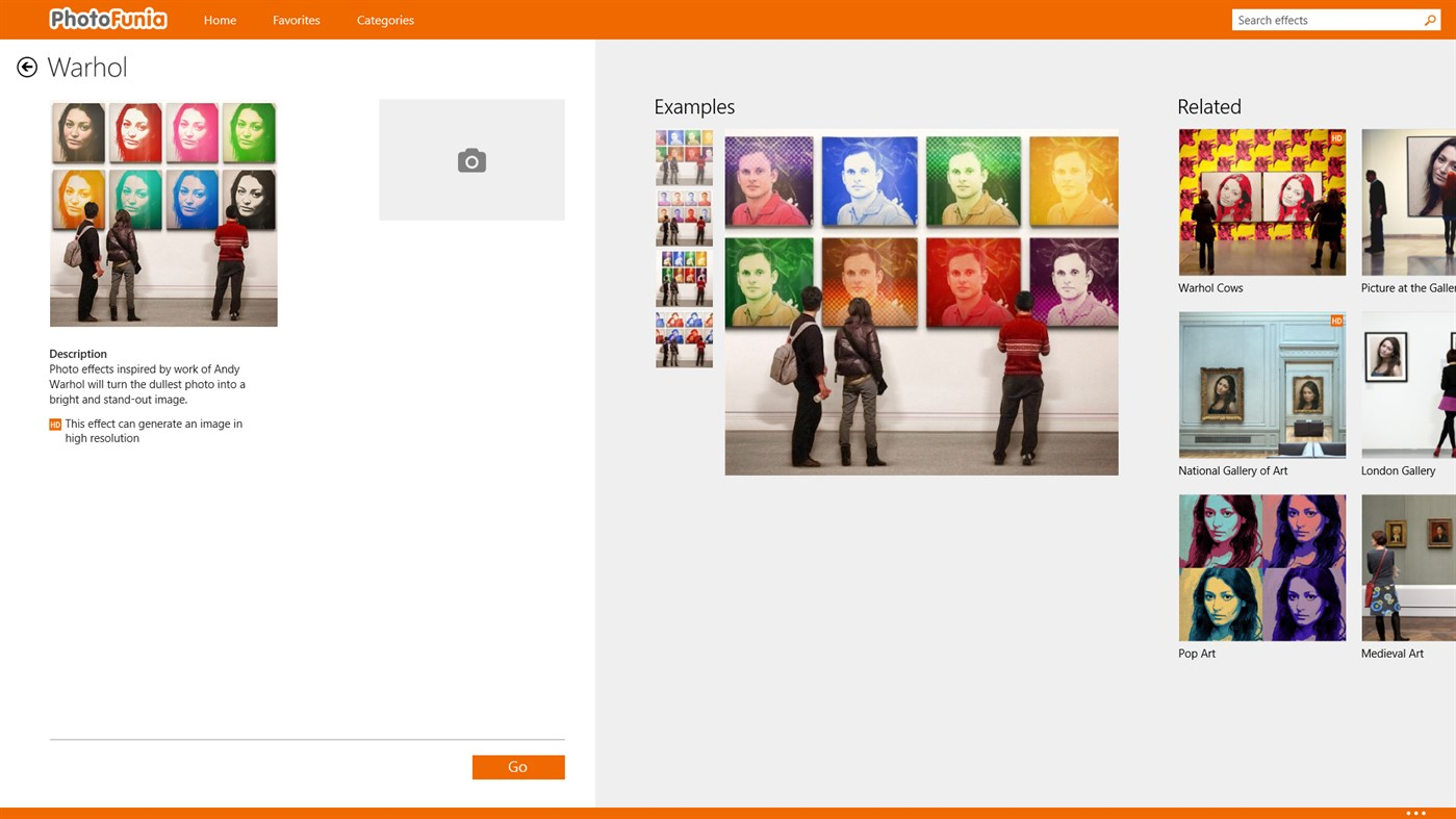PhotoFunia for Windows UWP full screenshot