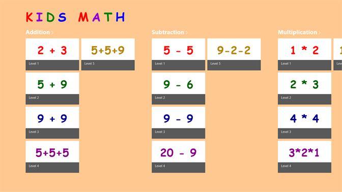 Get Kids Math Practice - Microsoft Store