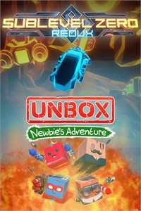 Carátula para el juego BUNDLE - Unbox: Newbie's Adventure and Sublevel Zero: Redux de Xbox 360