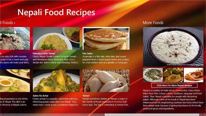 Get nepali food recipes microsoft store en sa screenshot these screen shot include the varieties of nepali food and you can look the forumfinder Choice Image