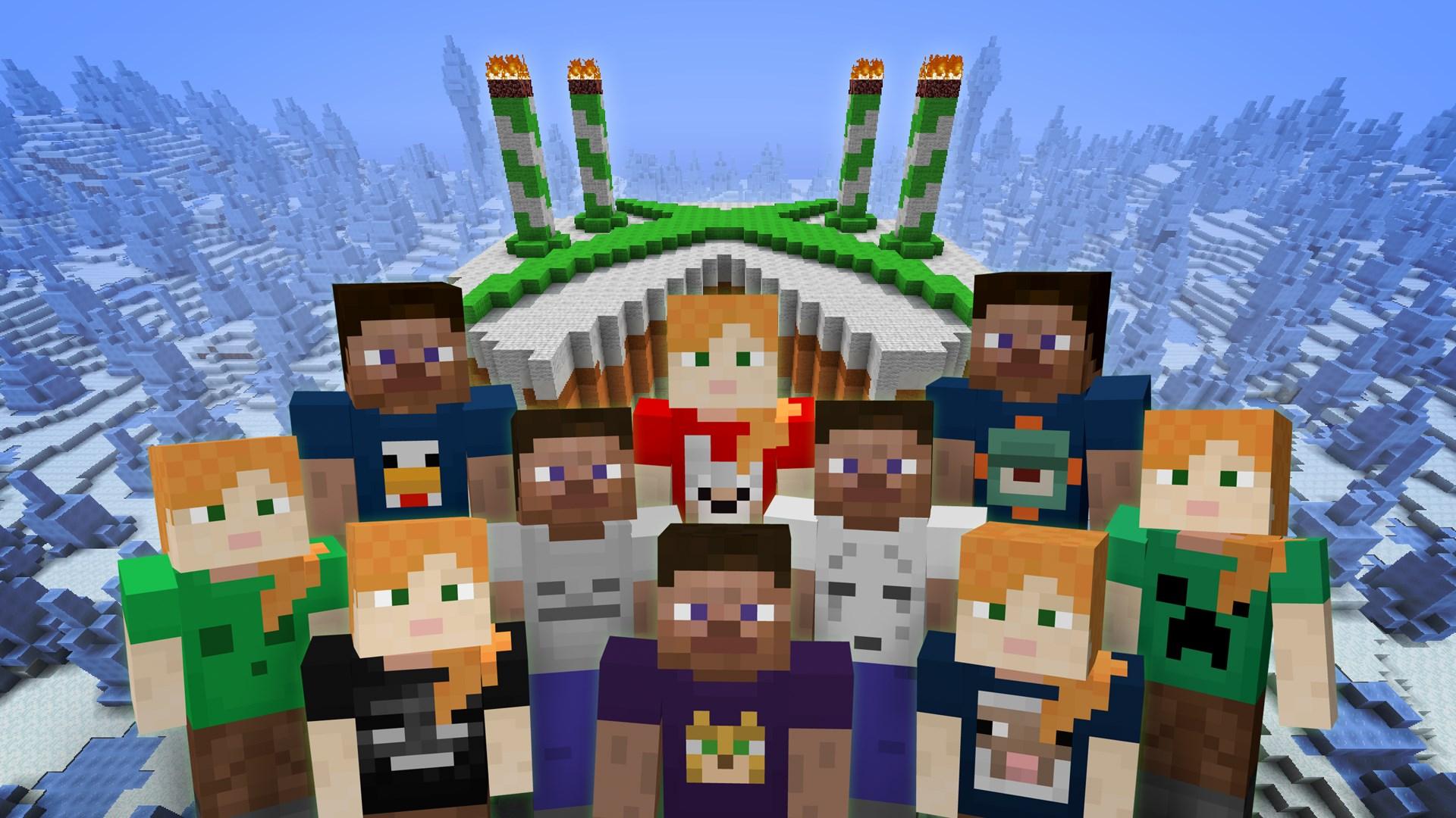 Minecraft 4th Birthday Skin Pack