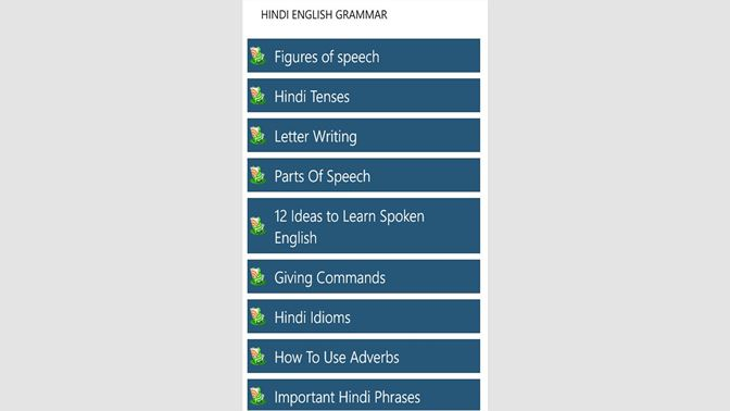Get Hindi-Eng Grammar - Microsoft Store