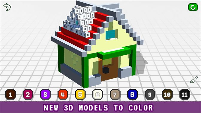 House 3D Color by Number - Voxel Coloring Book beziehen – Microsoft ...