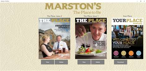 Marston's The Place – desktop and tablet Screenshots 1