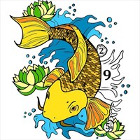 Koi Fish Color By Number - Japanese Coloring Book beziehen ...