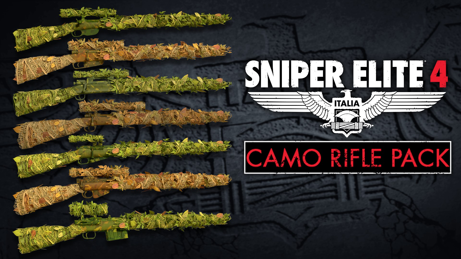 Camouflage Rifles Skin Pack