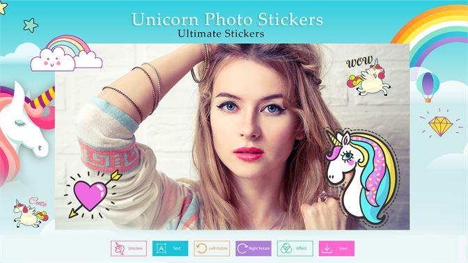 Get Unicorn Photo Stickers Cute Photo Editor For Girls