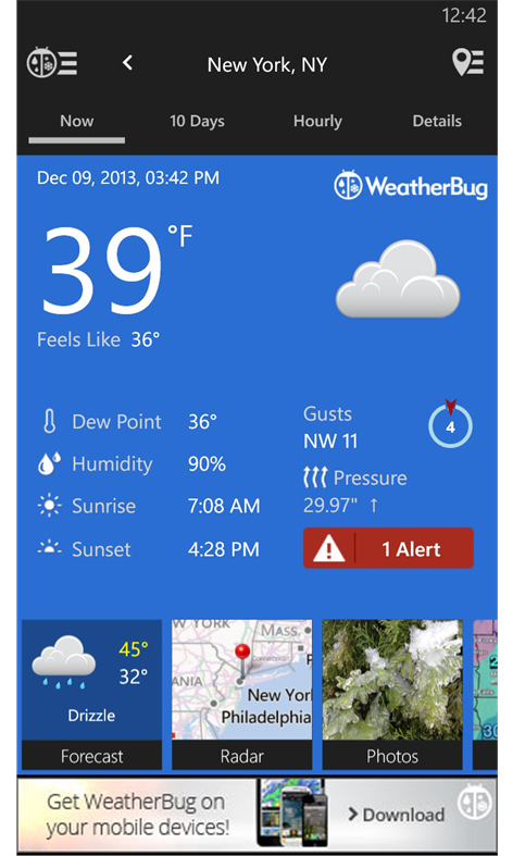 WeatherBug Screenshots 1