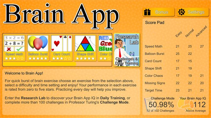 Buy Brain App - Daily Brain Training on your PC - Microsoft Store en-CA