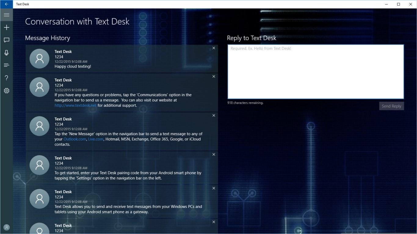 Text Desk