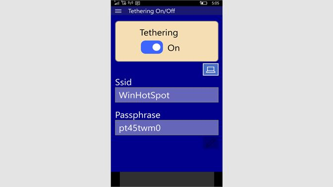 Get Tethering On/Off - Microsoft Store