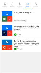 Microsoft Flow screenshot 3