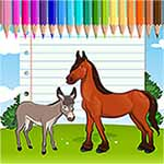 Horse Coloring Unicorn Pages For Kids