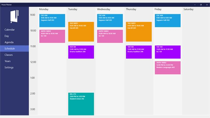 Get power planner microsoft store screenshot see your weekly class schedule fandeluxe Image collections
