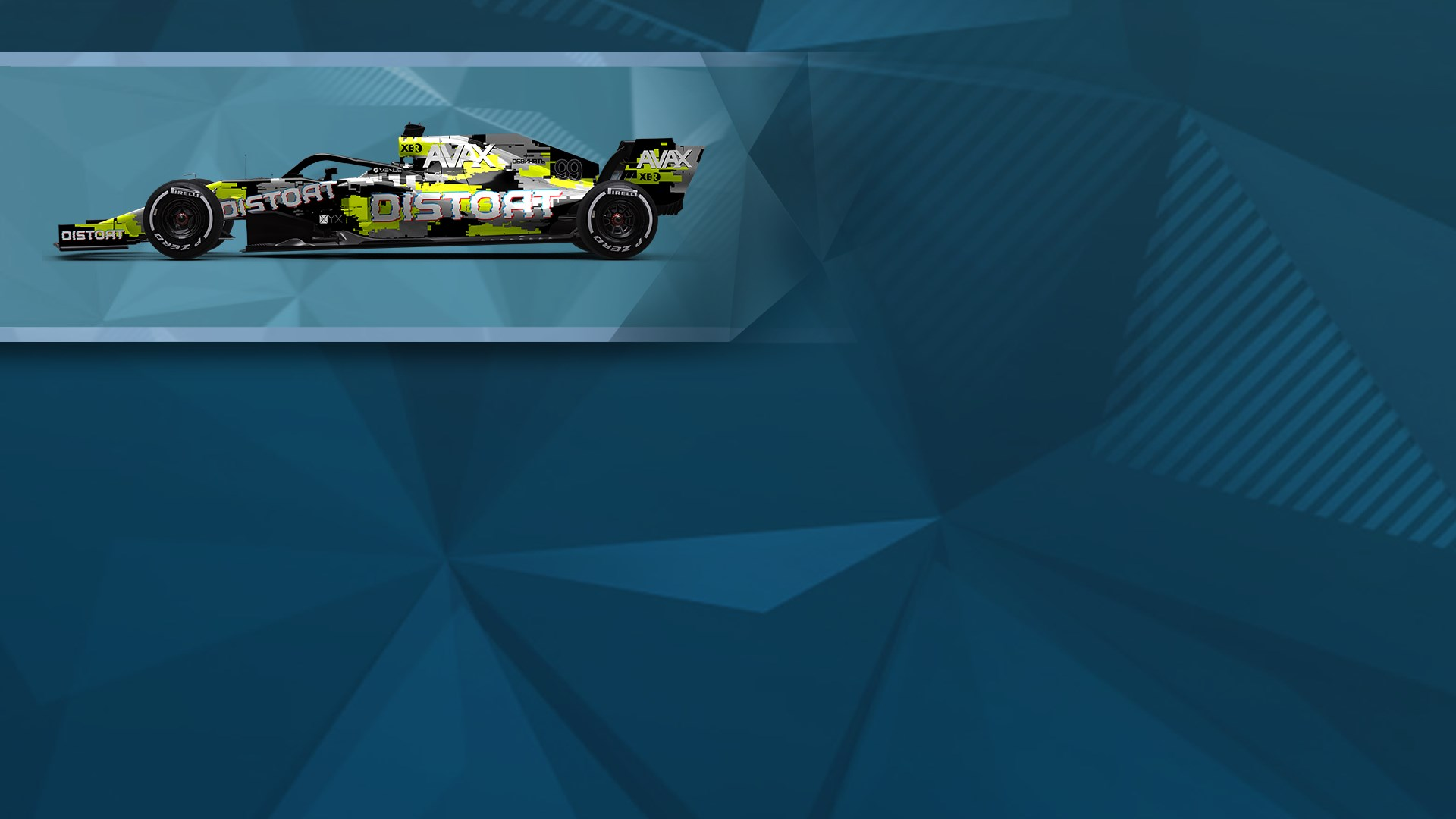 F1® 2019 WS: Car Livery 'DISTORT - Interference'