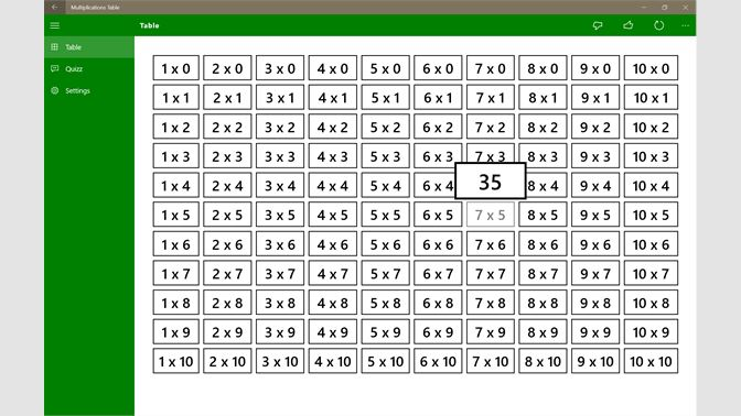 Get Table Des Multiplications Microsoft Store