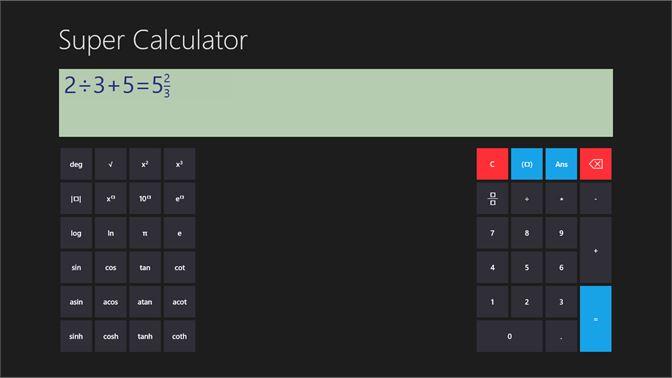 Get Super Calculator - Microsoft Store
