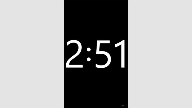 Get Full Screen Clock - Microsoft Store