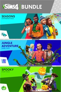 Carátula del juego The Sims- Seasons, Jungle Adventure, Spooky Stuff