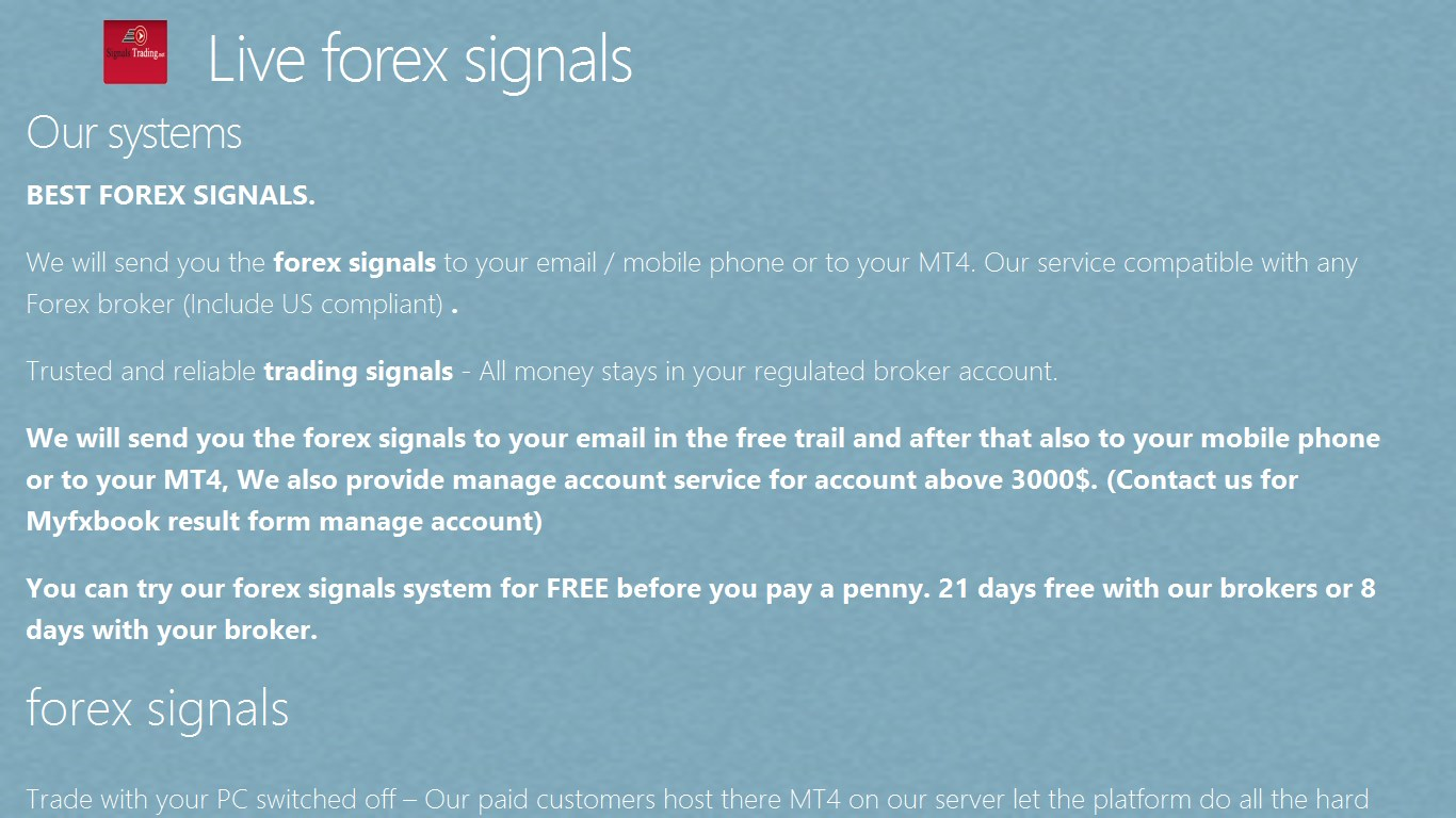 Live forex signals for Windows 10 free download on 10 App Store