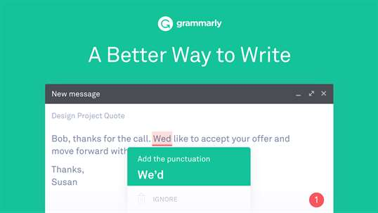 Grammarly for Microsoft Edge screenshot 1