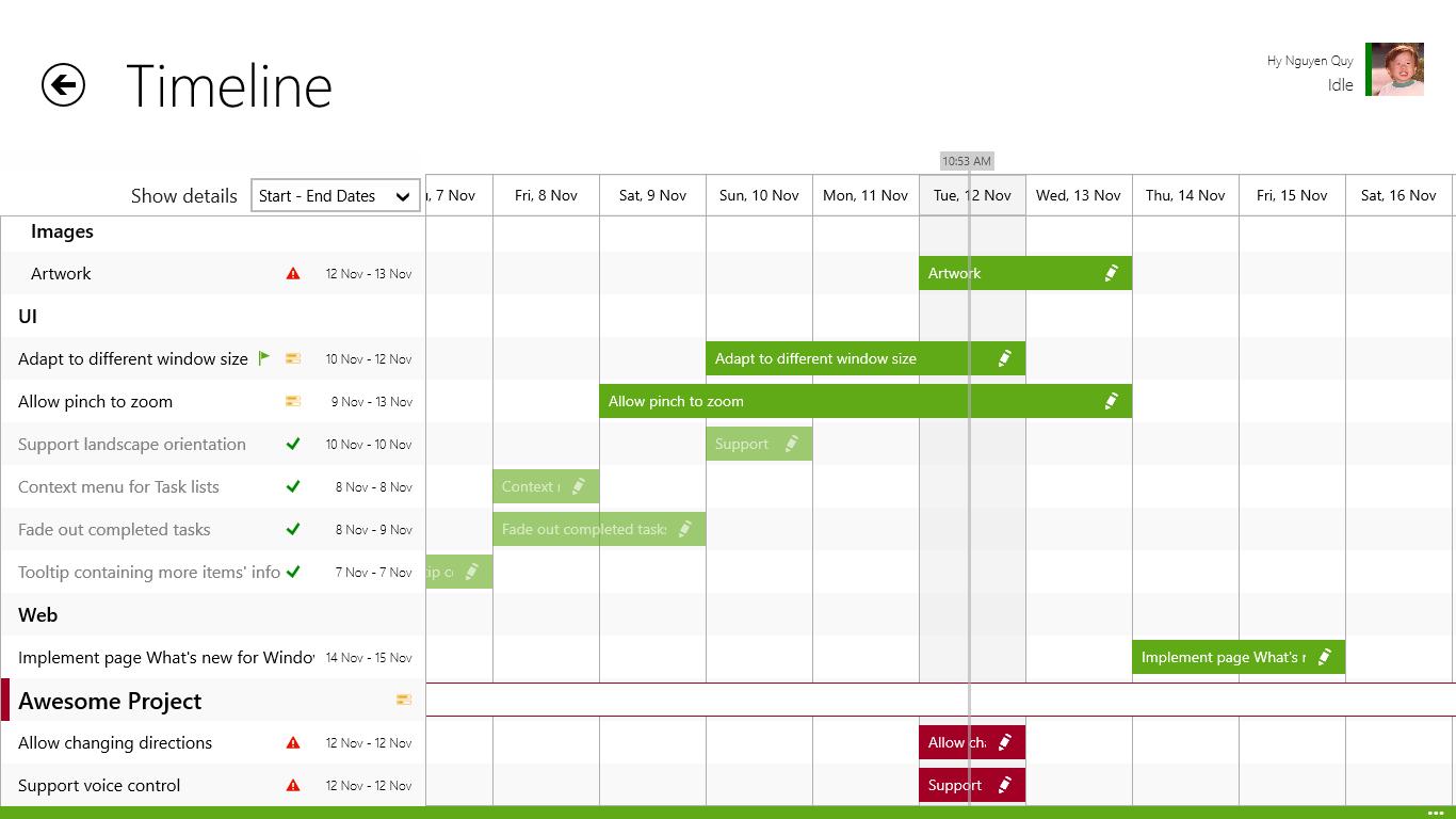 microsoft project timeline