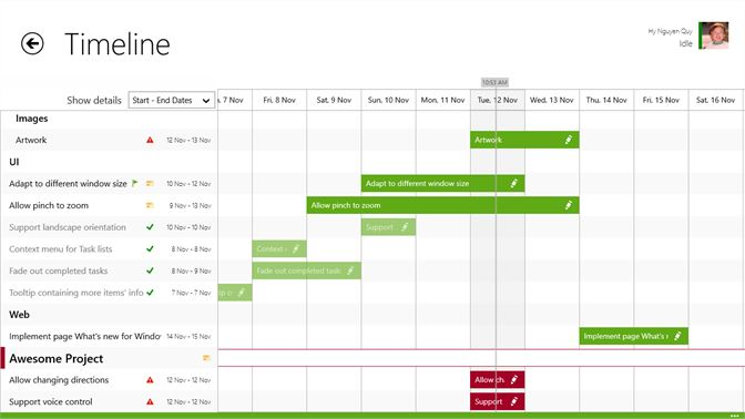 Get project timeline microsoft store en gb screenshot timeline with all the tasks to keep track of the status easily altavistaventures Images
