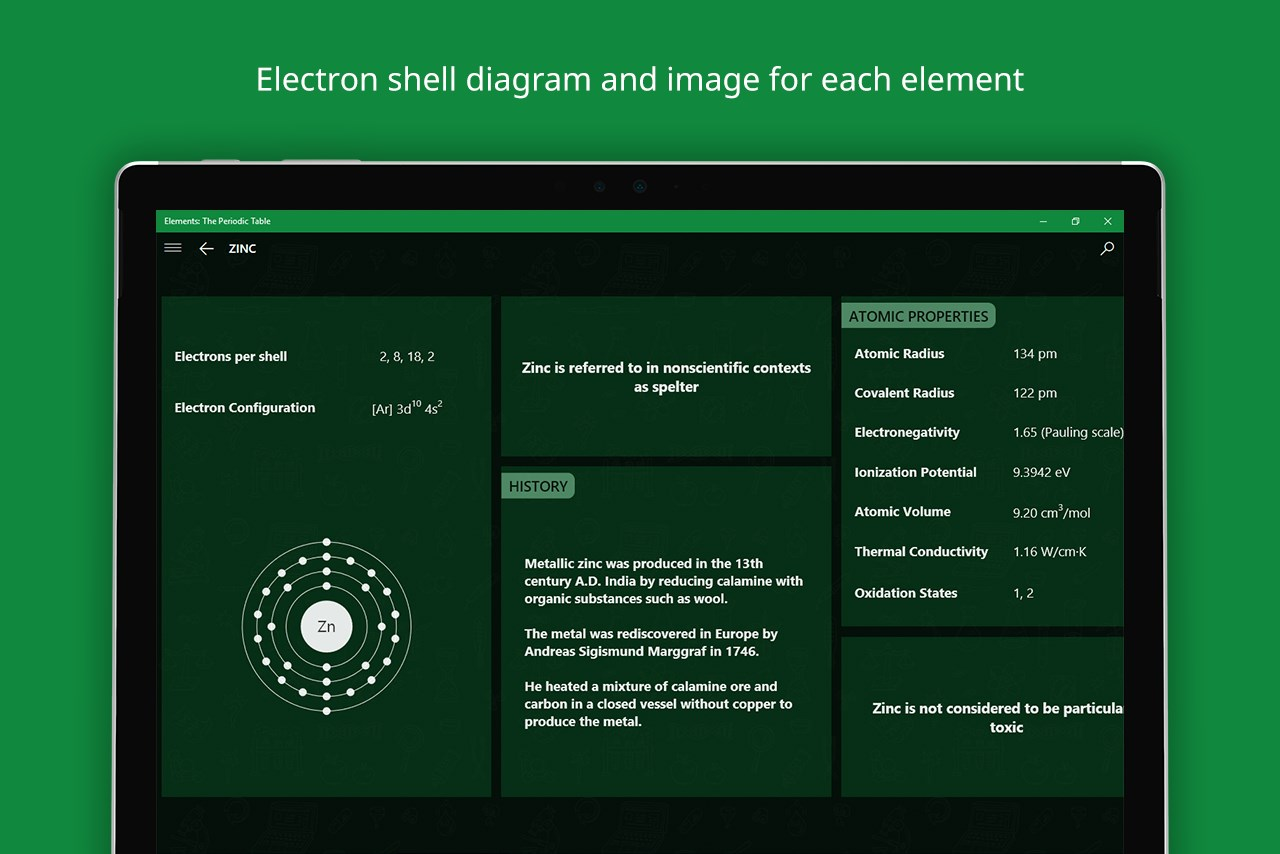 Elements the periodic table for windows 10 elements the periodic table urtaz Gallery