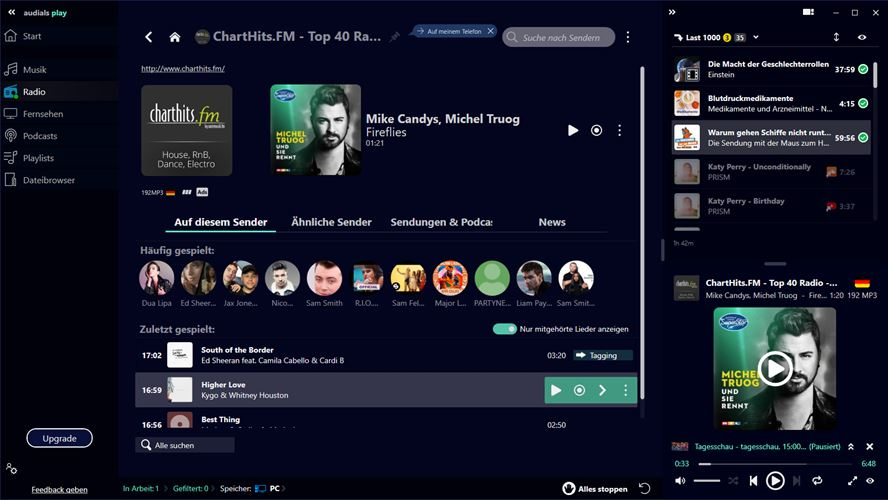 Audials Play – Radio, Musik, TV & Podcasts Screenshot