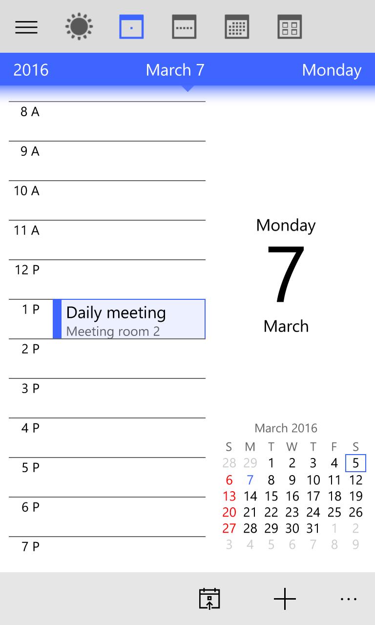 Year Calendar Jsf : My calendar for windows mobile