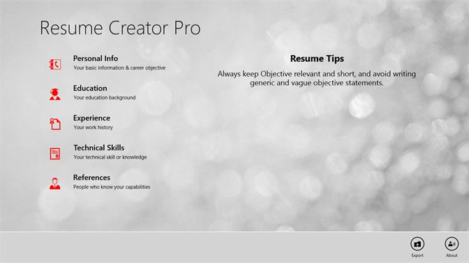 resume creator pro with resume tips