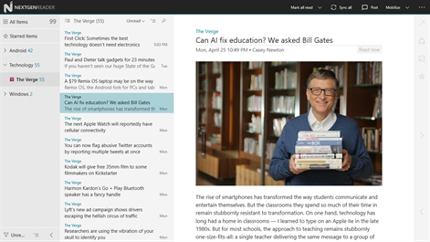 Nextgen Reader UWP Screenshot