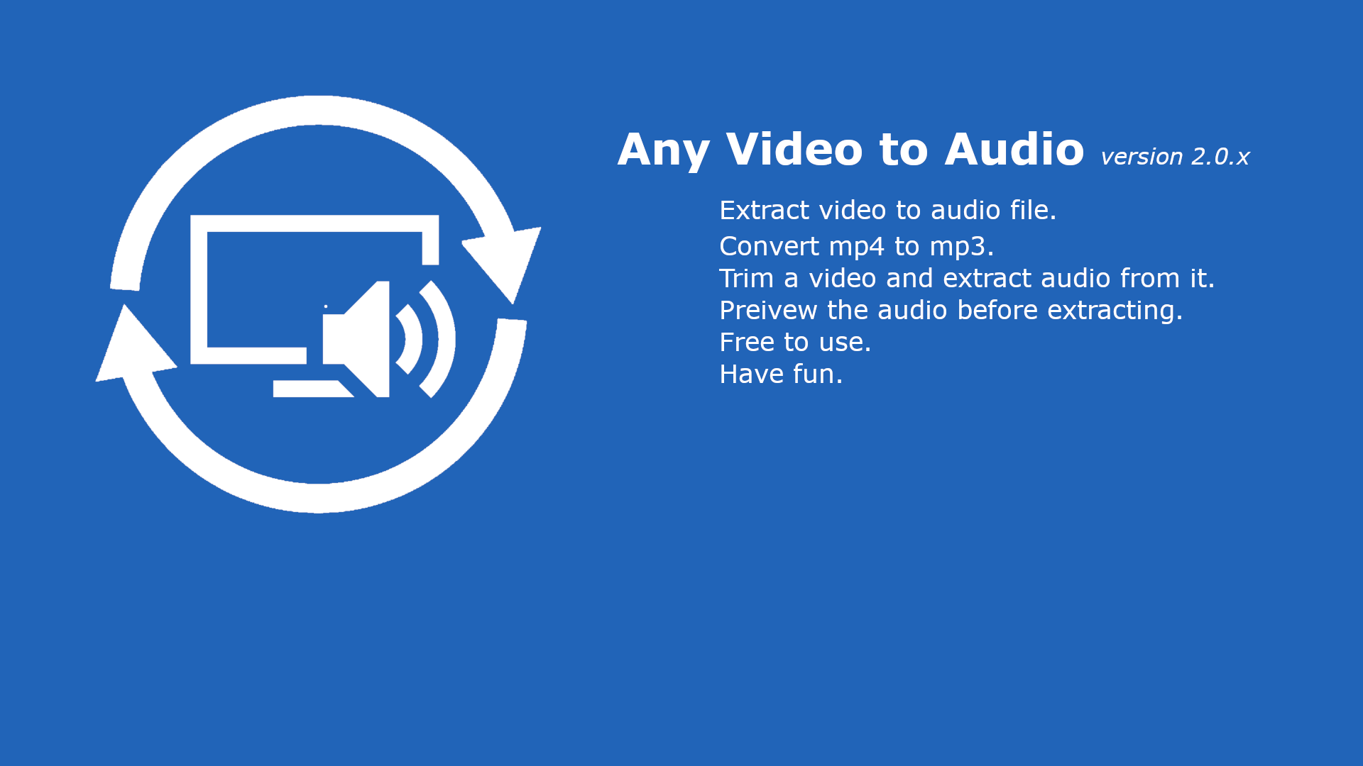 Get Any Video to Audio: convert mp4 to mp3, video to mp3, wav, m4a