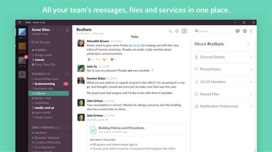 Slack screenshot 1