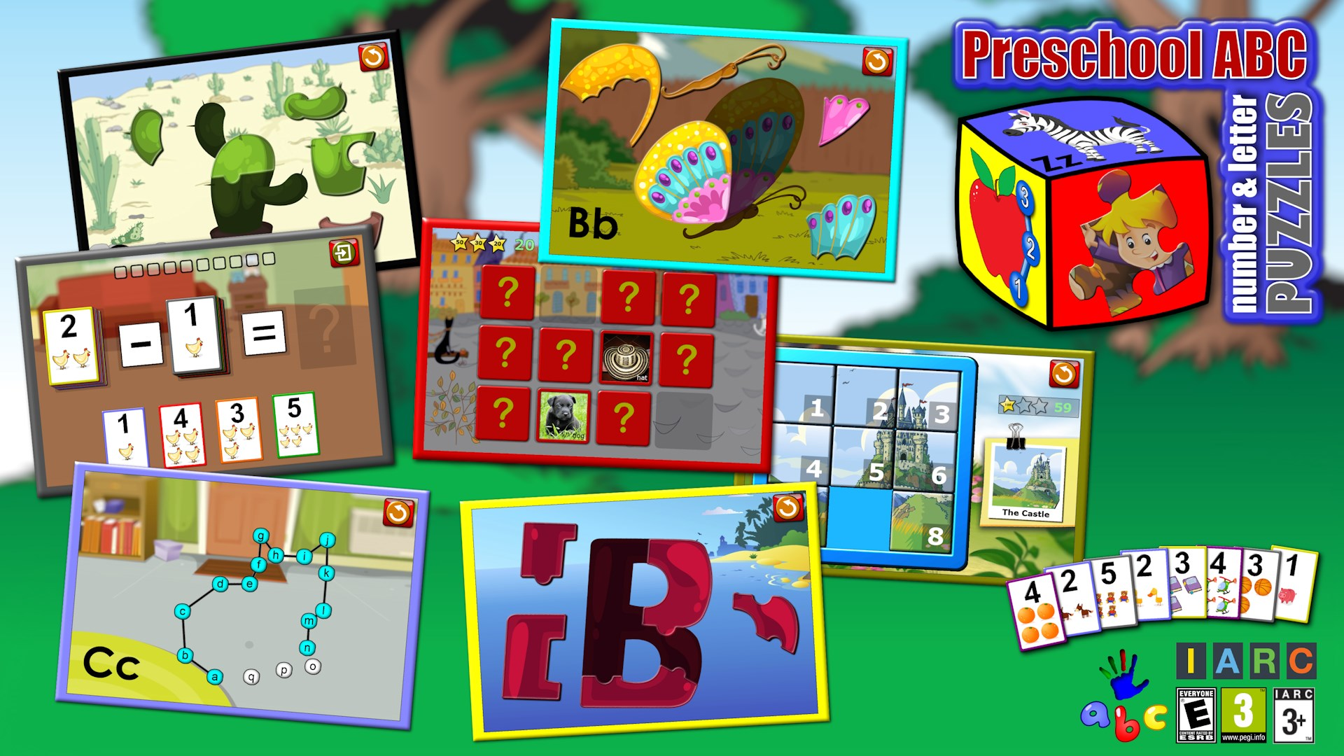 Get Preschool ABC Number and Letter Puzzle Games - teaches kids the ...