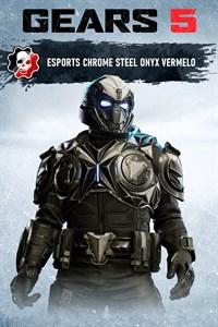 Vermelo ónix de acero cromado para eSports