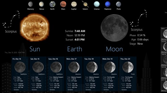 Lunar Phases screenshot