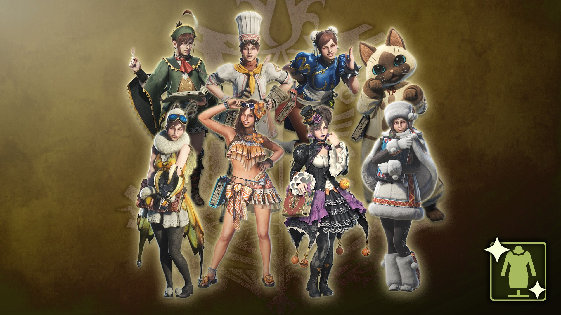 Monster Hunter: World - Complete Handler Costume Pack