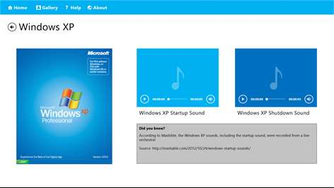 Collection of Windows Startup Sounds Screenshots 2