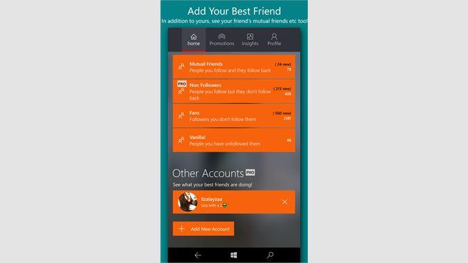 Get Followers Insight - Microsoft Store