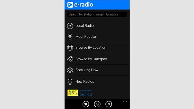 Get E-Radio - Microsoft Store 4003650cfe5