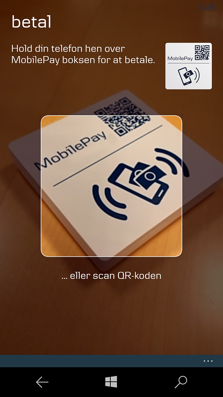 MobilePay for Windows 10 Mobile