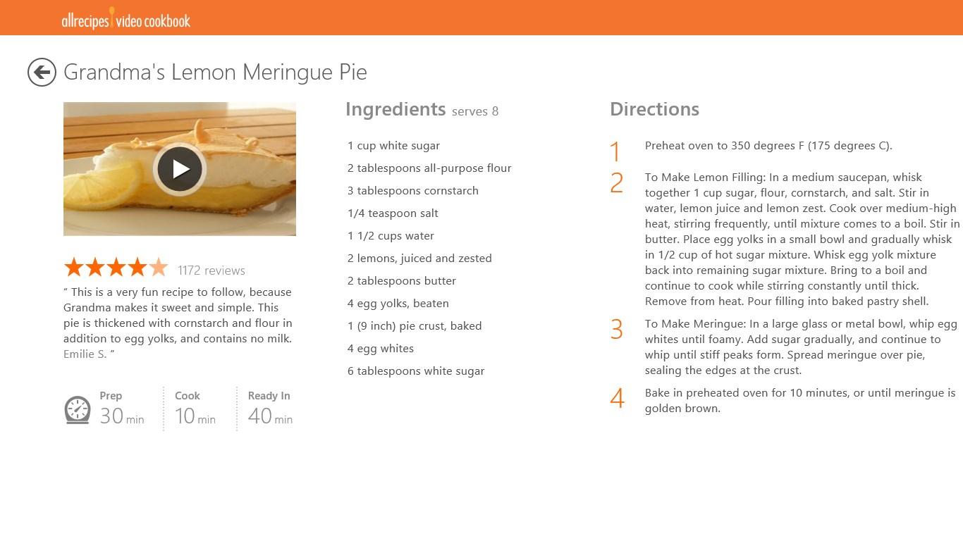 Allrecipes Video Cookbook