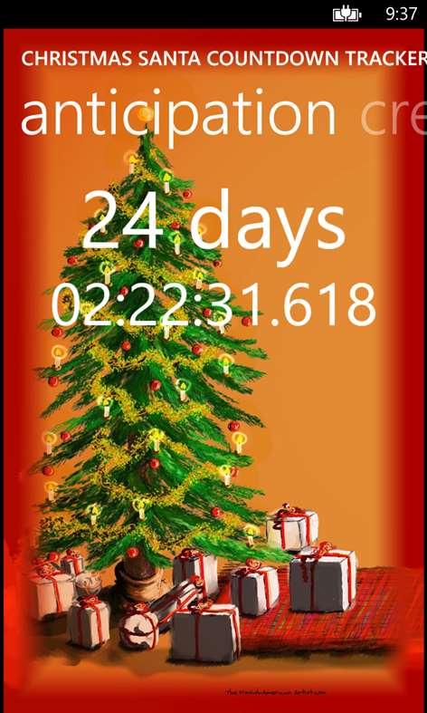 Christmas Santa Countdown Tracker days until xmas Screenshots 1