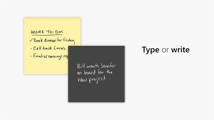 Microsoft Sticky Notes Screenshot