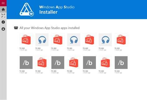 Windows App Studio Installer Screenshots 2