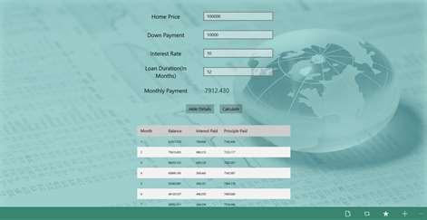 Mortgage EMI Calculator Screenshots 2